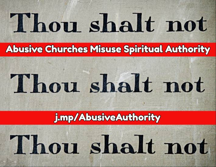 Abusive spiritual authority