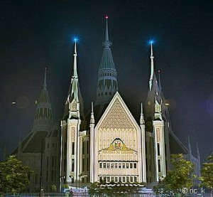 Central Temple of Iglesia ni Cristo in Quezon City, Philippines.  Photo by Ric_K