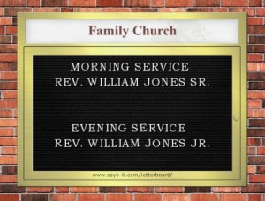 family church sign