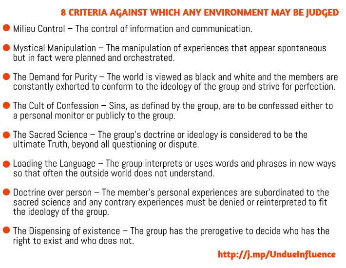 brainwashing criteria